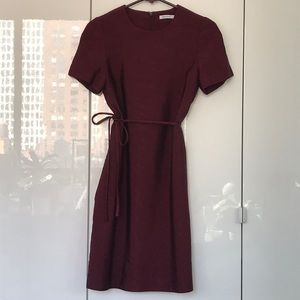 PROTAGONIST deep wine colored dress